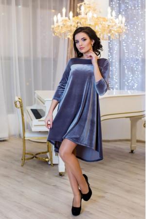 Платье «Скарлетт» серого цвета