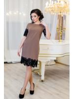 Платье «Эмоция» цвета кофе