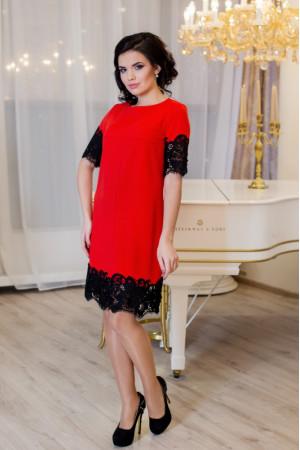 Платье «Эмоция» красного цвета