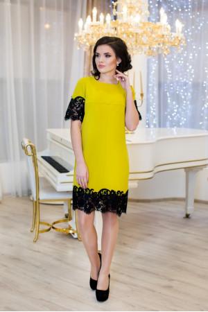 Платье «Эмоция» горчичного цвета