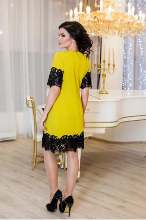 Сукня «Емоція» гірчичного кольору