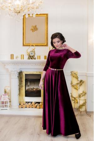 Платье «Лада» бордового цвета