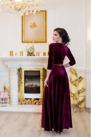 Сукня «Лада» бордового кольору