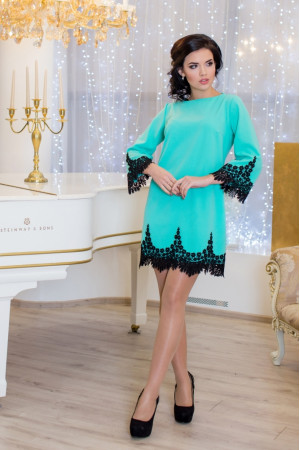 Платье «Рубина» бирюзового цвета