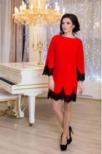 Платье «Рубина» красного цвета