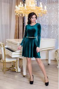 Платье «Мисс» зеленого цвета