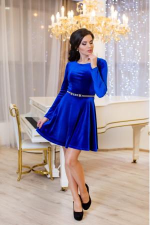 Платье «Мисс» цвета электрик