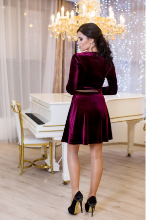Платье «Мисс» бордового цвета