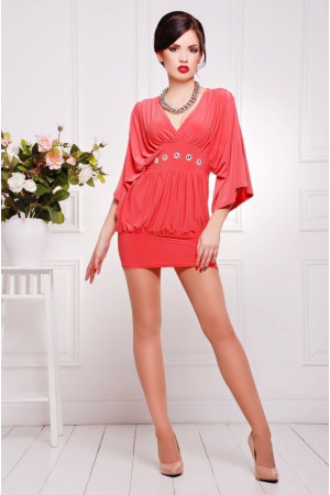 Платье «Шик» кораллового цвета