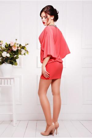 Сукня «Шик» коралового кольору