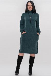 Платье «Хортон» зеленого цвета