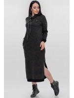 Платье «Френсис» темно-серого цвета