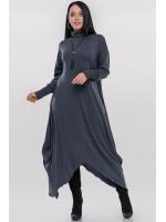 Платье «Пилл» темно-серого цвета