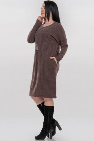 Платье «Севиль» коричневого цвета