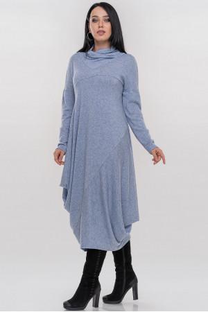 Платье «Дорота» серо-голубого цвета