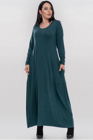 Платье «Мейбелл» темно-зеленого цвета