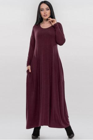 Платье «Мейбелл» бордового цвета