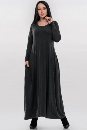 Платье «Мейбелл» темно-серого цвета