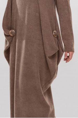 Платье «Эбигейл» кофейного цвета