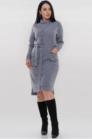 Платье «Кларин» серого цвета