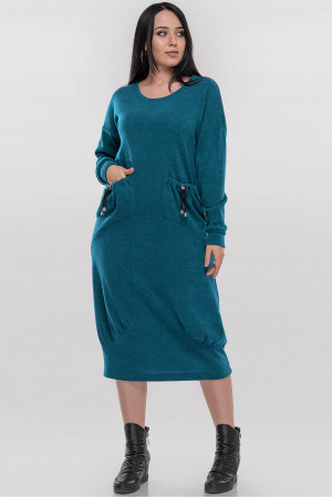 Платье «Ида» бирюзового цвета