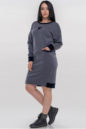 Платье «Солло» цвета джинс