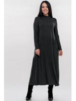 Платье «Солвейг» темно-серого цвета