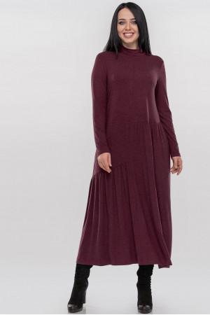 Платье «Солвейг» бордового цвета