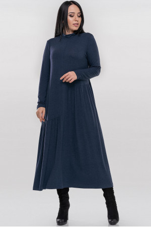 Платье «Солвейг» синего цвета