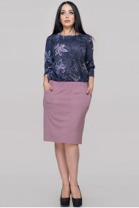 Сукня «Ізабелла» синя з рожевим