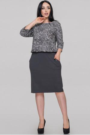 Платье «Изабелла» серого цвета