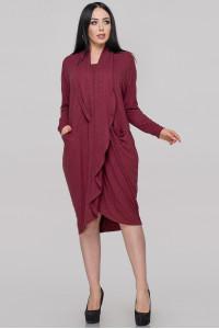 Сукня «Ліза» бордового кольору