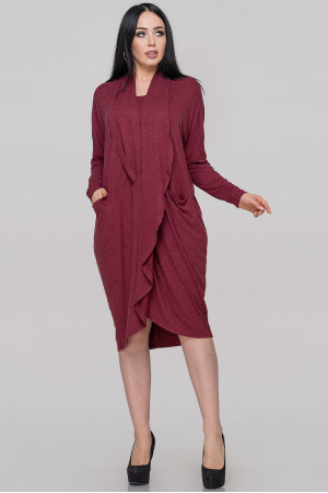 Платье «Лиза» бордового цвета