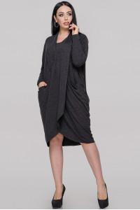 Сукня «Ліза» темно-сірого кольору