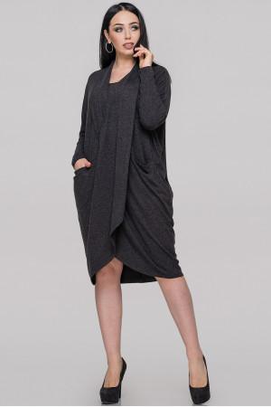 Платье «Лиза» темно-серого цвета