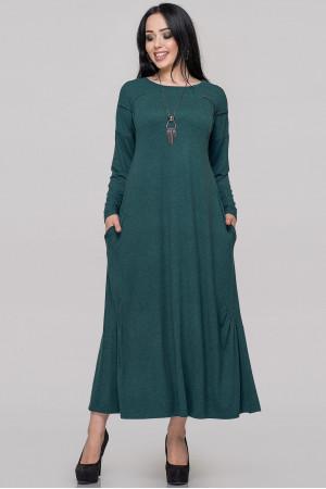 Платье «Сейдо» темно-зеленого цвета