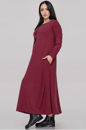 Сукня «Сейдо» бордового кольору
