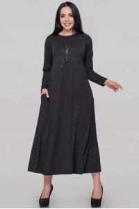 Платье «Сейдо» темно-серого цвета