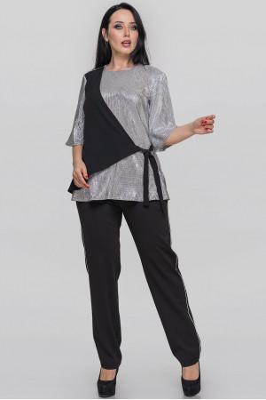Блуза «Анік» сріблястого кольору