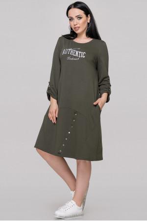 Платье «Уитни» цвета хаки