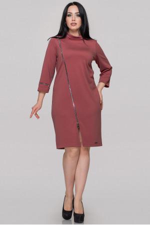 Платье «Винон» бордового цвета