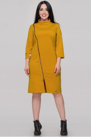 Платье «Винон» горчичного цвета