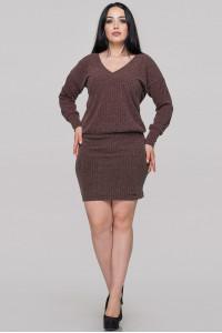 Платье «Редо» коричневого цвета