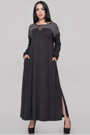 Платье «Рикель» темно-серого цвета