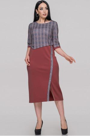 Платье «Билли» бордового цвета