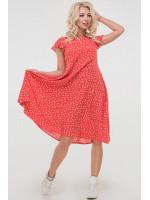 Платье «Лилас» красного цвета