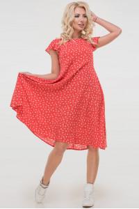 Сукня «Лілас» червоного кольору