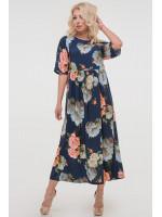 Сукня «Торі» з блакитними квітами
