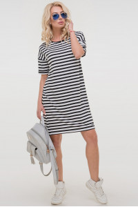 Платье «Бренда» черно-белое