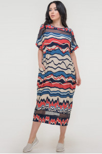 Платье «Бигольд» синее с красным